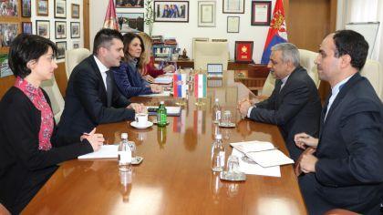 Министар Зоран Ђорђевић са амбасадором Ирана, Њ.Е. Хосеином М. Абдолахијем